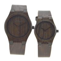 Wholesale Japanese Movement Wood Watch With Leather Band  , Tense Couple Wooden Hand Watch from china suppliers