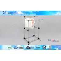 Wholesale Indoor Oudoor Telescopic Clothes Rack with Wheels , Folding Free Standing Clothing Rack from china suppliers