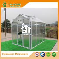 Wholesale 258X191X218CM White Color Imperial Series Single Door Polycarbonate Greenhouse from china suppliers