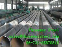 Quality 22 m Welded SSAW Steel Pipe for low pressure liquid steel pipes for sale