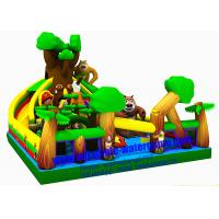 Wholesale Large Jungle Inflatable Fun City Outdoor / Indoor Playground With Bouncy Castle from china suppliers