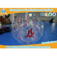 Wholesale Clear Inflatable Bubble Ball Red Straps Adults Inflatable Belly Ball Bump Bubbles with CE from china suppliers