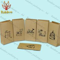 Wholesale Eco-friendly Stand Up Brown Kraft Customized Paper Bags For Shopping from china suppliers