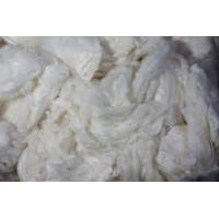 China raw silk fiber, mulberry silk noil for needle felt sheets on sale