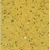 Wholesale Crystal Yellow Polished artificial quartz stone kitchen top / quartz floor tile from china suppliers