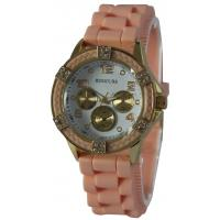 Wholesale Three Bead Strap, Silicone Womens Quartz Watches, Stainless Steel Case Back from china suppliers
