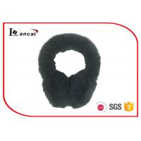 Wholesale Warm Winter Ear Muffs For Men , Full Covered  Black Faux Fur Earmuffs from china suppliers