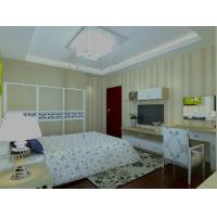 Wholesale White / Beige MDF Board Hinged Door Wardrobes Bedroom Closets With Soft Close from china suppliers