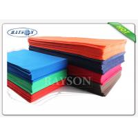 Wholesale Soft Feeling Non Slip Various Color Disposable Table Cover Oilproof In Tnt  Fabrics from china suppliers