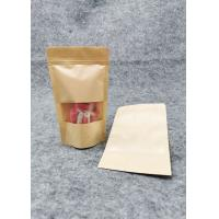 Wholesale Window  Kraft Paper Stand Up Pouch Packaging / Kraft Resealable Pouches from china suppliers