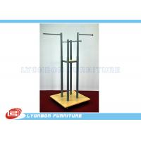 Wholesale Grocery Four-Way Metal Wooden Display Stands For Garment Presenting from china suppliers