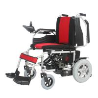 Wholesale 250W 8 Inch Simple Folding Motorised Wheel Chair With Detachable Footrest from china suppliers