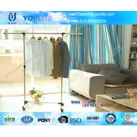 Buy cheap Telescopic Single Pole Clothes Rack / Movable Clothing Drying Hanger with Wheels from wholesalers