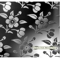Wholesale Chrysanthemum Type 420 / 430 / 410 /304 Stainless Steel Embossed Sheet Decorative Plate EN from china suppliers