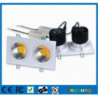 Wholesale 2X15W led downlight dimmable with CE ROHS approval from china suppliers
