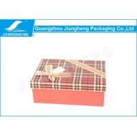Wholesale OEM Rigid Cardboard Gift Boxes Chocolate Packaging Ribbon Bowknot Surface from china suppliers