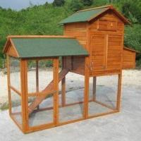 Wholesale Chicken Coops, with Asphalt Roof and Pull-out Tray, Easy to Clean from china suppliers