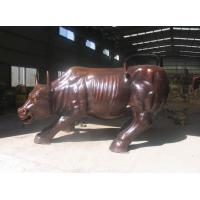 Wholesale Large Brass Animal Statue Wall Street Bull DL1058 from china suppliers