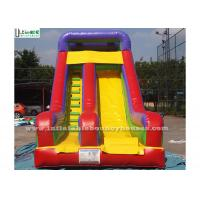 Wholesale Rainbow Juegos Commercial Inflatable Slides 0.55mm PVC Tarapulin from china suppliers