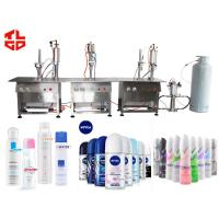 Wholesale Aerosol Filling And Capping Machine For Body Sprays / Perfume Aerosol Fillers from china suppliers