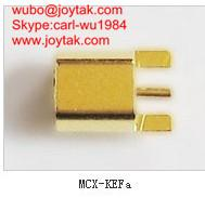Wholesale High quality gold plated MCX jack streight PCB mount type coaxial connector MCX-KEF-A from china suppliers