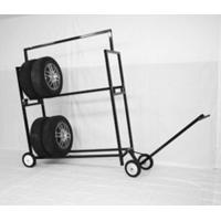 Wholesale Stainless Steel Two Layer Tyre Display Rack With Powder Coated from china suppliers