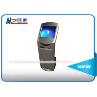 Wholesale 19 Inch Free Standing Touch Screen Information Kiosk With Card Reader / Printer from china suppliers