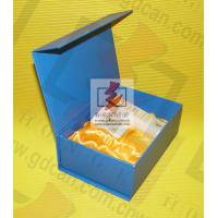 Wholesale Blue Recycled Paper Food Packing Boxes with Ribbon For Chocolate from china suppliers