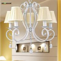 Wholesale Country Style Iron Art Chandeliers Modern lampadario 5 Arms Metal Painting lustres de sala Home Decoration Chandeliers F from china suppliers