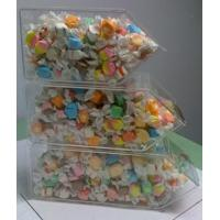 Wholesale Acrylic Candy Display Cases ,3 Tier Stackable Bins With Scoop Holder from china suppliers