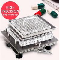 Wholesale 100pcs / time Semi Automatic Capsule Filling Machine Stainless Steel 304 from china suppliers