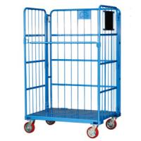 Wholesale Foldable Steel Warehouse Metal Storage Rolling Container Cage from china suppliers