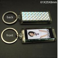 Wholesale Promotional single flashing Solar Led Keychain Logo can be imprinted from china suppliers