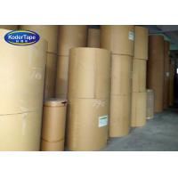 China Reinfoced Brown Kraft Tape Paper Fiber Glass Gum Tape Jumbo Rolls on sale
