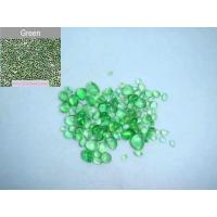 Quality Green glass bead pebble for pool finishes for sale