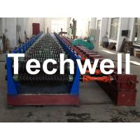 Wholesale Automatic 4 - 8m/min Galvanized Steel Silo Corrugated Wall Sheet Roll Forming Machine from china suppliers