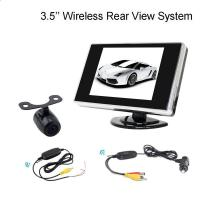 Wholesale 2.4G Wireless 3.5 Inch LCD dashboard monitor With Reversing Bakcup Camera from china suppliers
