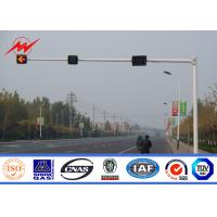 Wholesale 7M Traffic Light Pole Gr65 4m / 6m Galvanized Road Light Poles With 9M Bracket from china suppliers