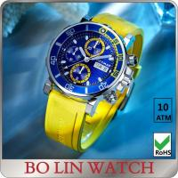 Quality Luxury fashion Stainless Steel Sports Watch , multifunction chronograph men watch for sale