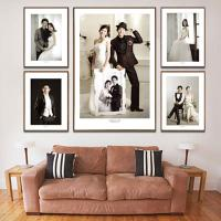 Wholesale Wooden and Leather Digital Photo Frame Korea Designs / Album Frames from china suppliers