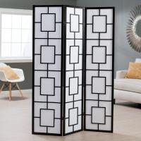 Wholesale 3 Panels Wooden Foldable Decorative Room Divider Screens For Rooms from china suppliers