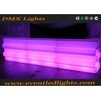 Quality Fashionable Remote Control Led Bar Counter , Decorative led lounge furniture for sale
