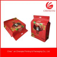 Wholesale UV Printing Block Bottom Bags With Clear Window For Noshes Food from china suppliers