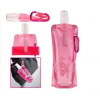 Wholesale BPA Free PET Plastic Drinking Water Bag / 500ml Pink Hiking Water Bag from china suppliers