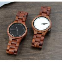 Quality Popular Handmade Wooden Wrist Watch with Japanese Movement , custom your own logo for sale