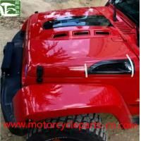 Quality Jeep Wrangler Off Road 4 * 4 Avenger Engine Hood With Carbon Fiber Vents for sale
