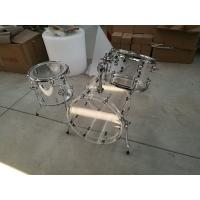 Wholesale Brand New Clear 3-pc Acrylic Drum Set with Tube Lugs from china suppliers