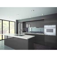 Wholesale Charcoal Gloss Modern Built In Thermofoil Kitchen Cupboards With Soft Close Drawers from china suppliers