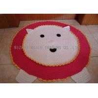 Wholesale Red And White Crochet Lion Rug Anti - Bacteria Hand Crochet Door Mat Scallop Edge from china suppliers