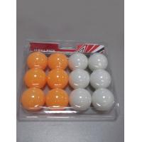 Wholesale Custom Table Tennis Balls 12 PCS In PVC Card White / Orange For Family Play from china suppliers
